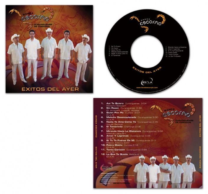 Album Cover Design - Banda Escorpio