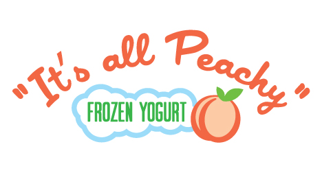 It's-all-peachy-frozen-yogurt-logo-design