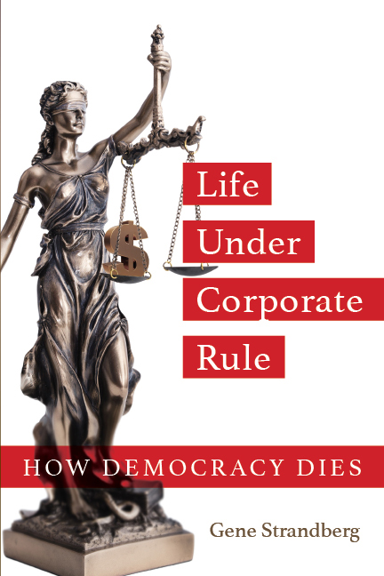 Life Under Corporate Rule book cover design