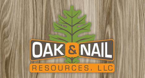 Oak and Nail logo design