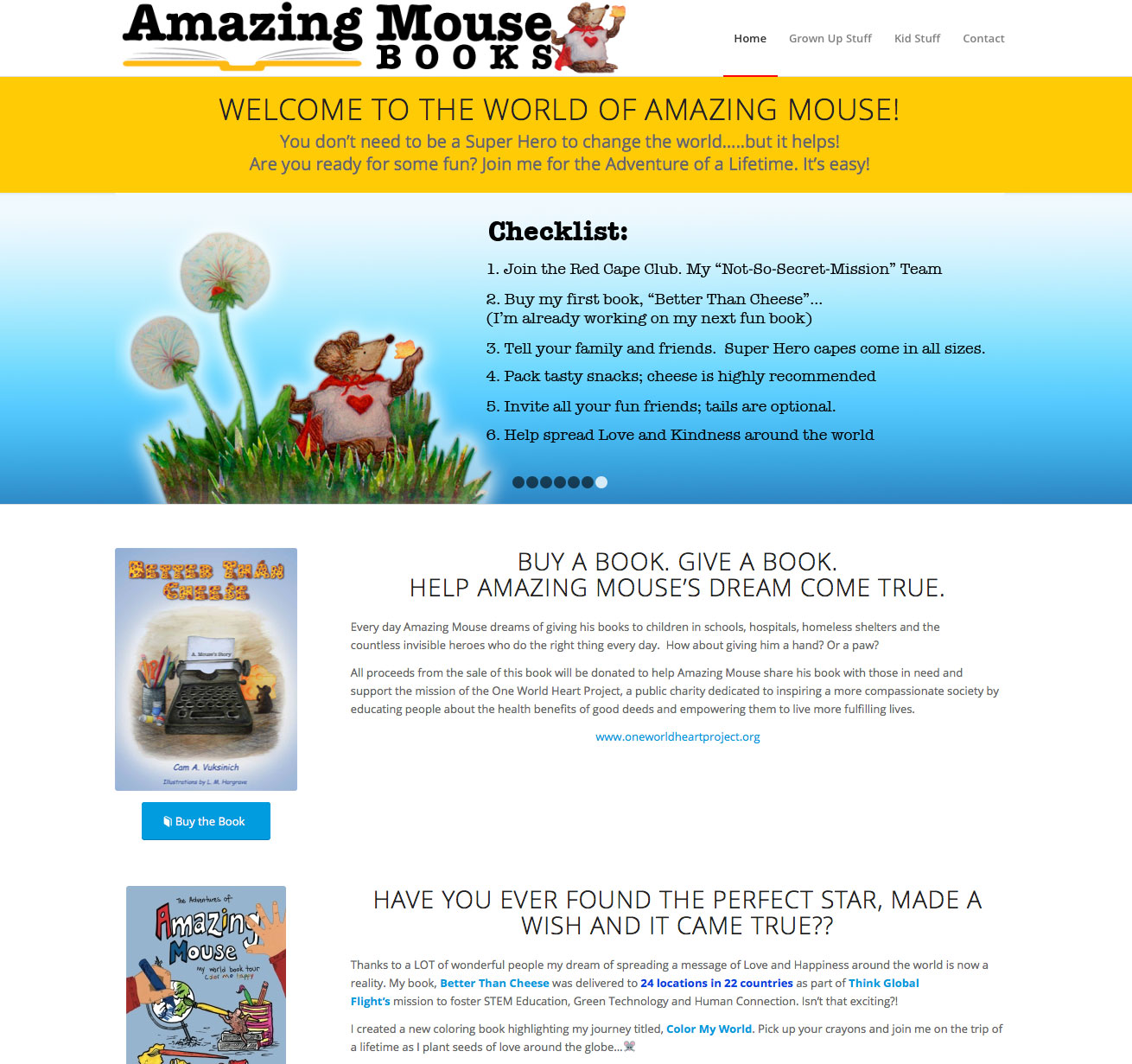 Amazing Mouse Books website design