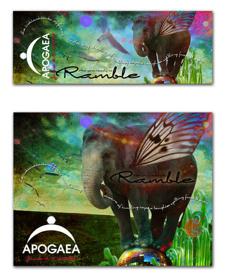 Apogaea Postcard Design
