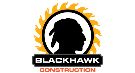 Blackhawk Construction logo design