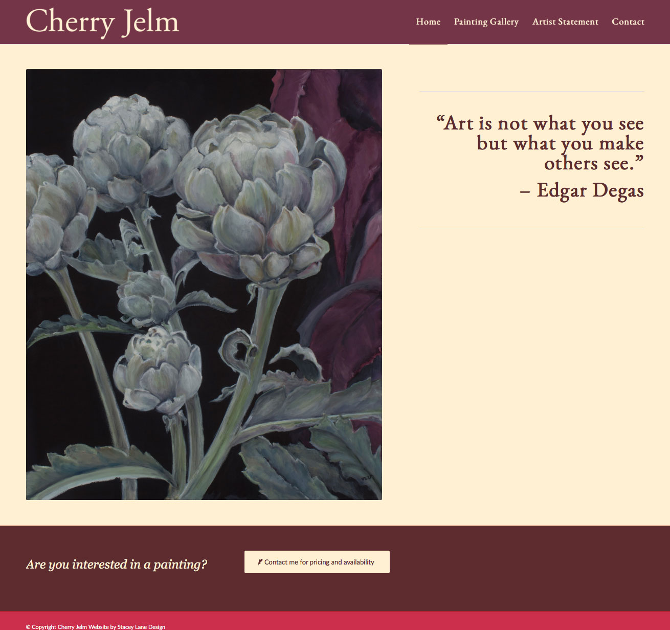 Cherry Jelm website design