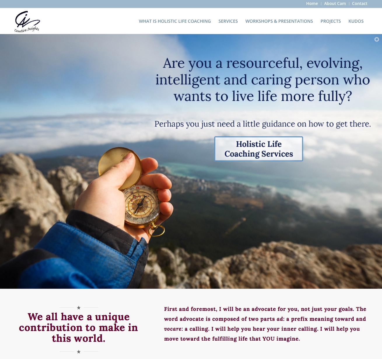 Creative Insights Coaching website design