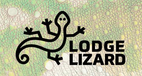 Lodge Lizard logo design
