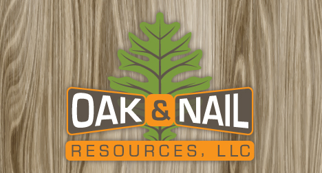Oak and Nail logo design