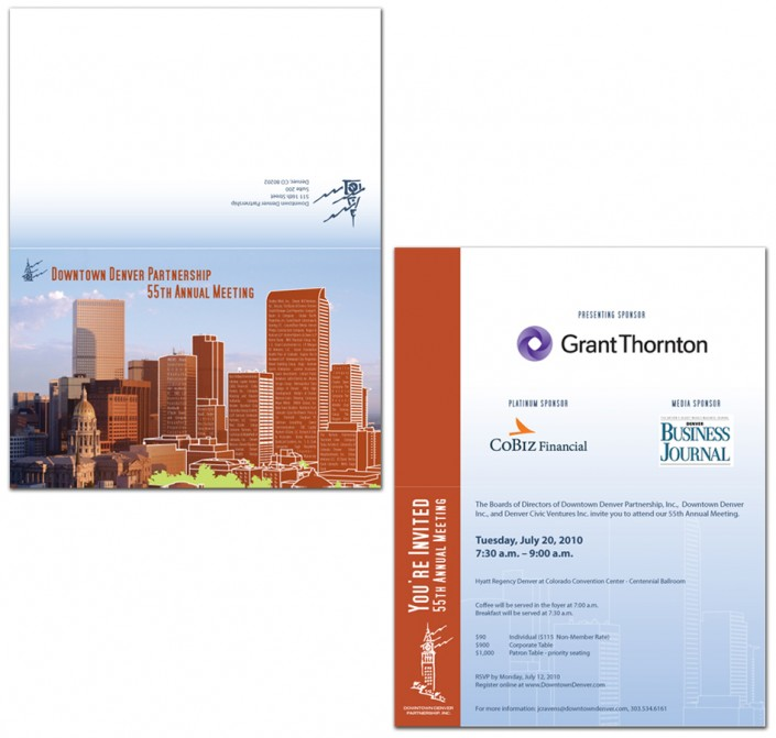 Downtown Denver Partnership invitation design