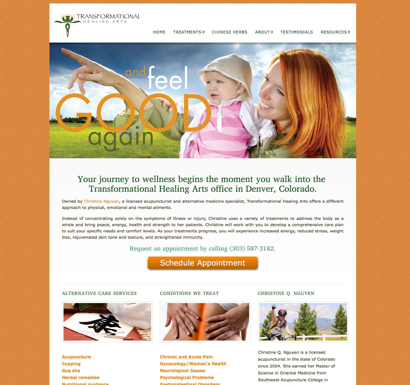 Healing Arts website design